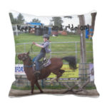 Keep calm and ride on horse pillow