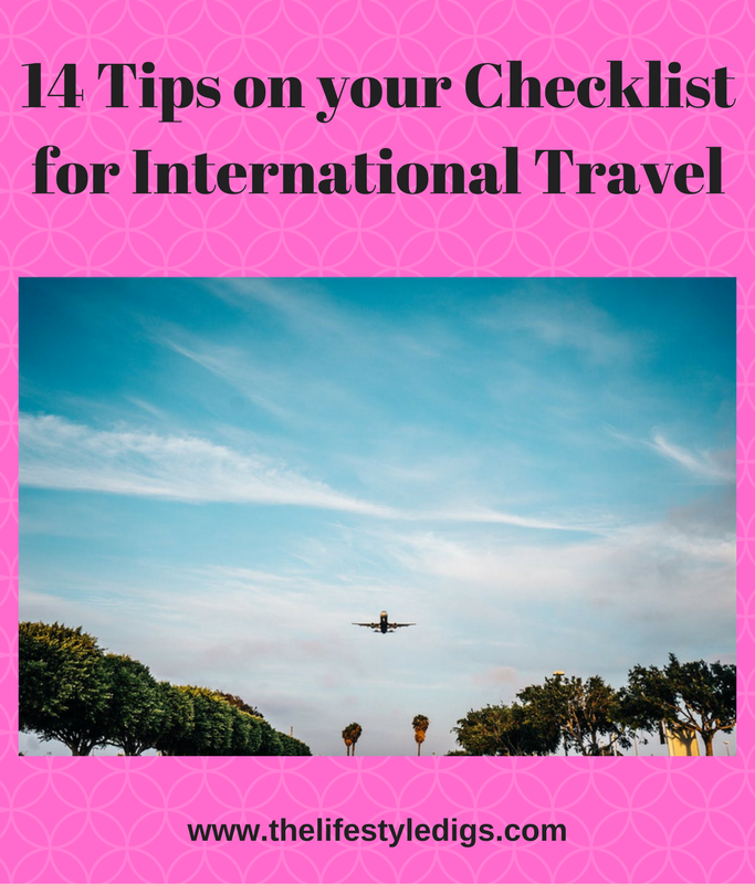 14 Tips on your Checklist for International Travel