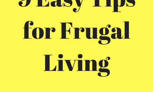 9 Easy Tips for Frugal Living