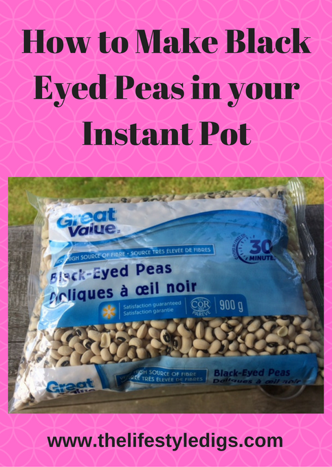 How to Make Black Eyed Peas in your Instant Pot