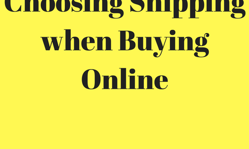 Choosing Shipping when Buying Online