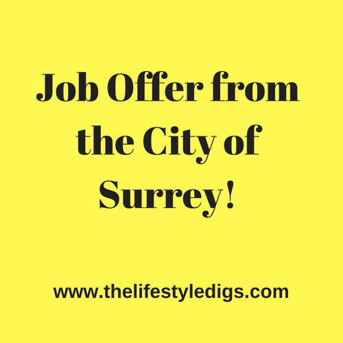 Job offer from the City of Surrey!