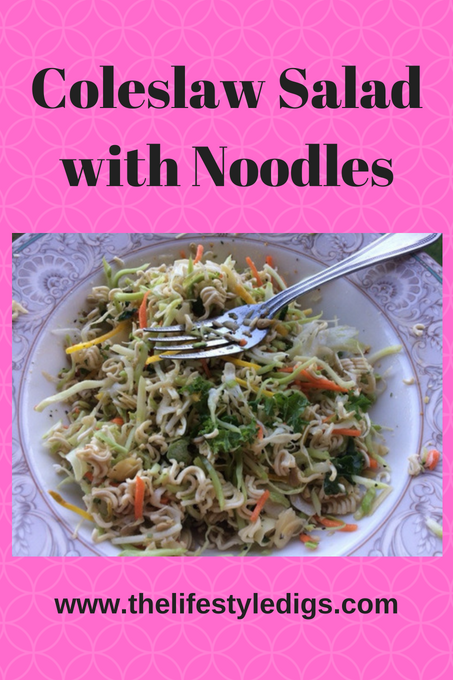 Coleslaw Salad with Noodles