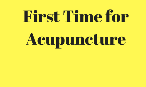 First Time for Acupuncture