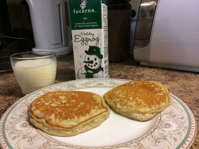 Eggnog Pancakes for One
