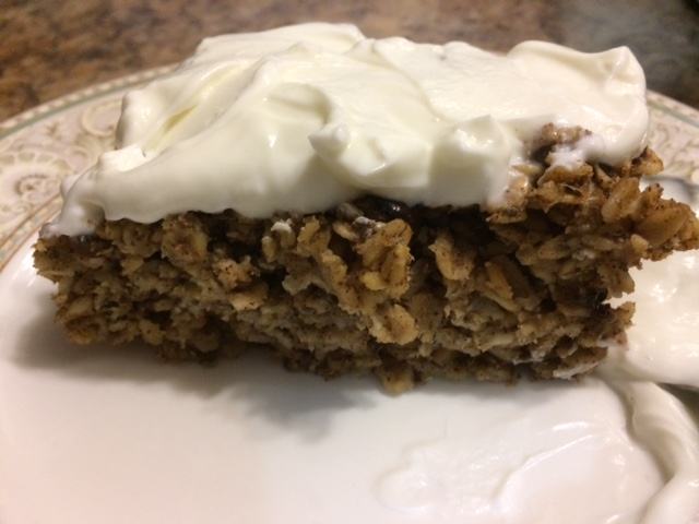 Chocolate Chip Peanut Butter Oatmeal Bake – for Breakfast!