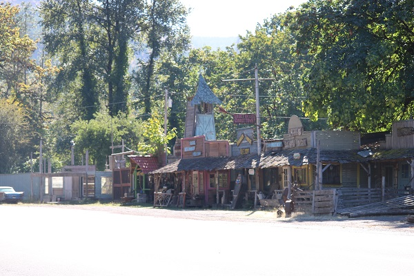 Fake Ghost Town at Short Bridge, Oregon