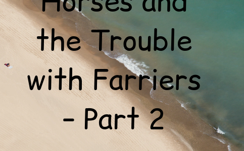 Life with Horses and the Trouble with Farriers – Part 2