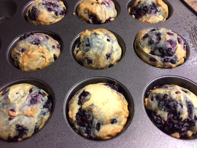 Skinny Blackberry Muffins