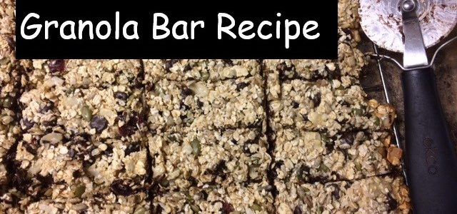 Easy Trail Mix Granola Bar Recipe