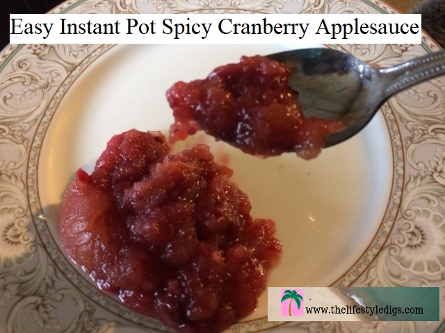Easy Instant Pot Spicy Cranberry Applesauce