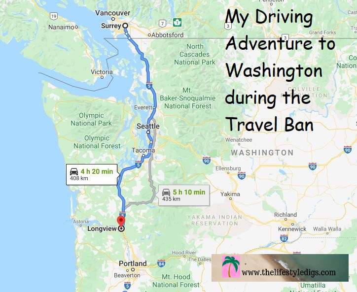 My Driving Adventure to Washington during the Travel Ban