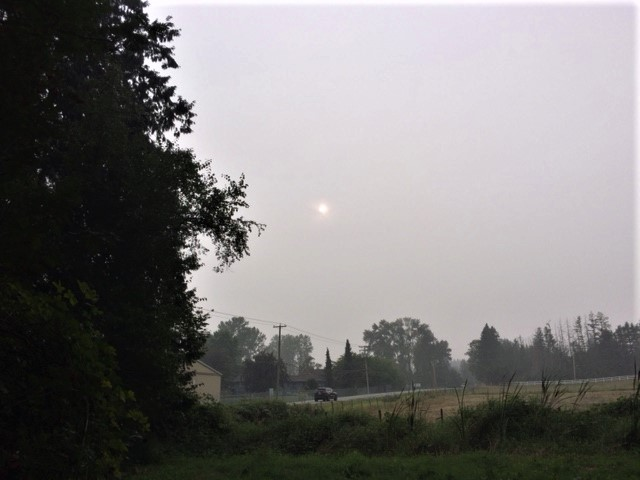 Smoky Skies from US Wildfires Settle over Cloverdale