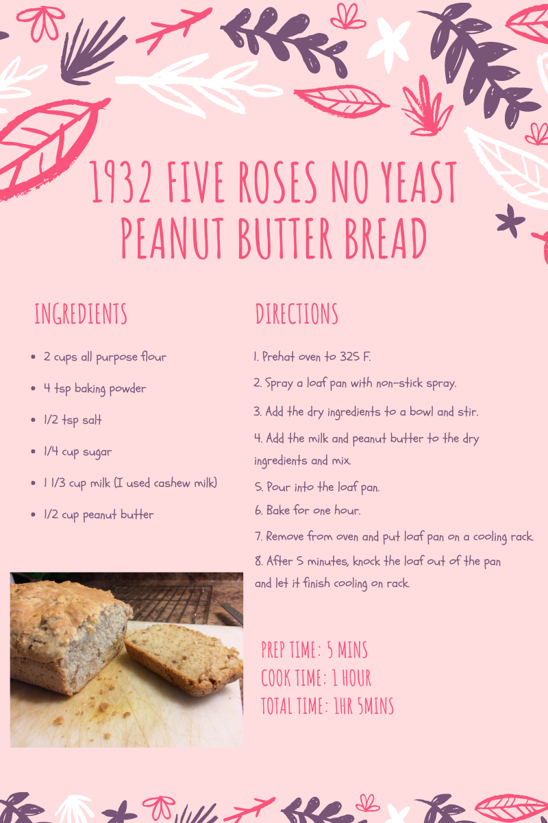 1932 Five Roses No Yeast Peanut Butter Bread 2