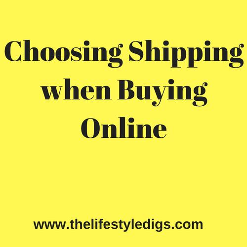 Choosing Shipping when Buying Online