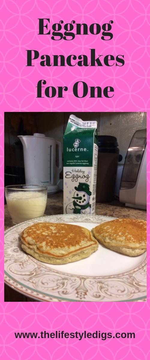Eggnog Pancakes for One