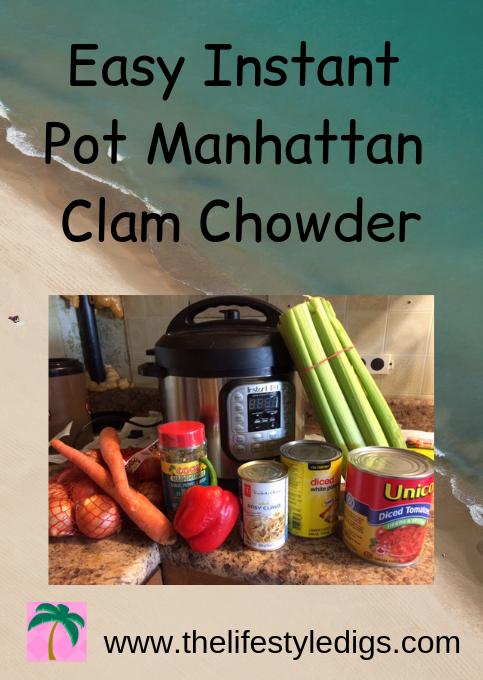 Easy Instant Pot Manhattan Clam Chowder