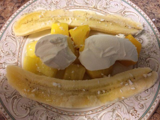Healthy Tropical Banana Split