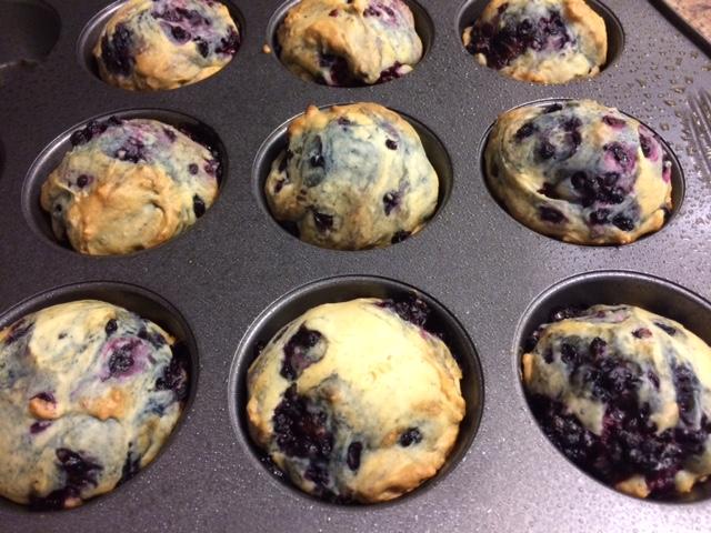 Skinny Blackberry Muffins