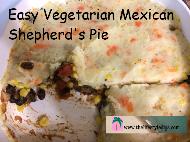Easy Vegetarian Mexican Shepherd's Pie