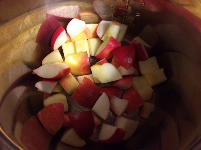 Easy Instant Pot Spicy Cranberry Applesauce