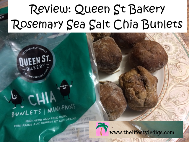 Review Queen St Bakery Rosemary Sea Salt Chia Bunlets