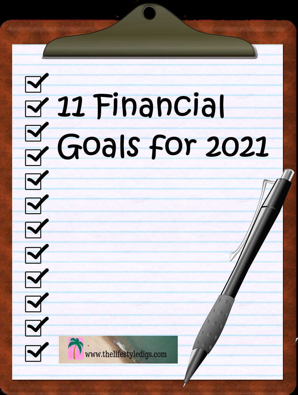 11 Financial Goals for 2021