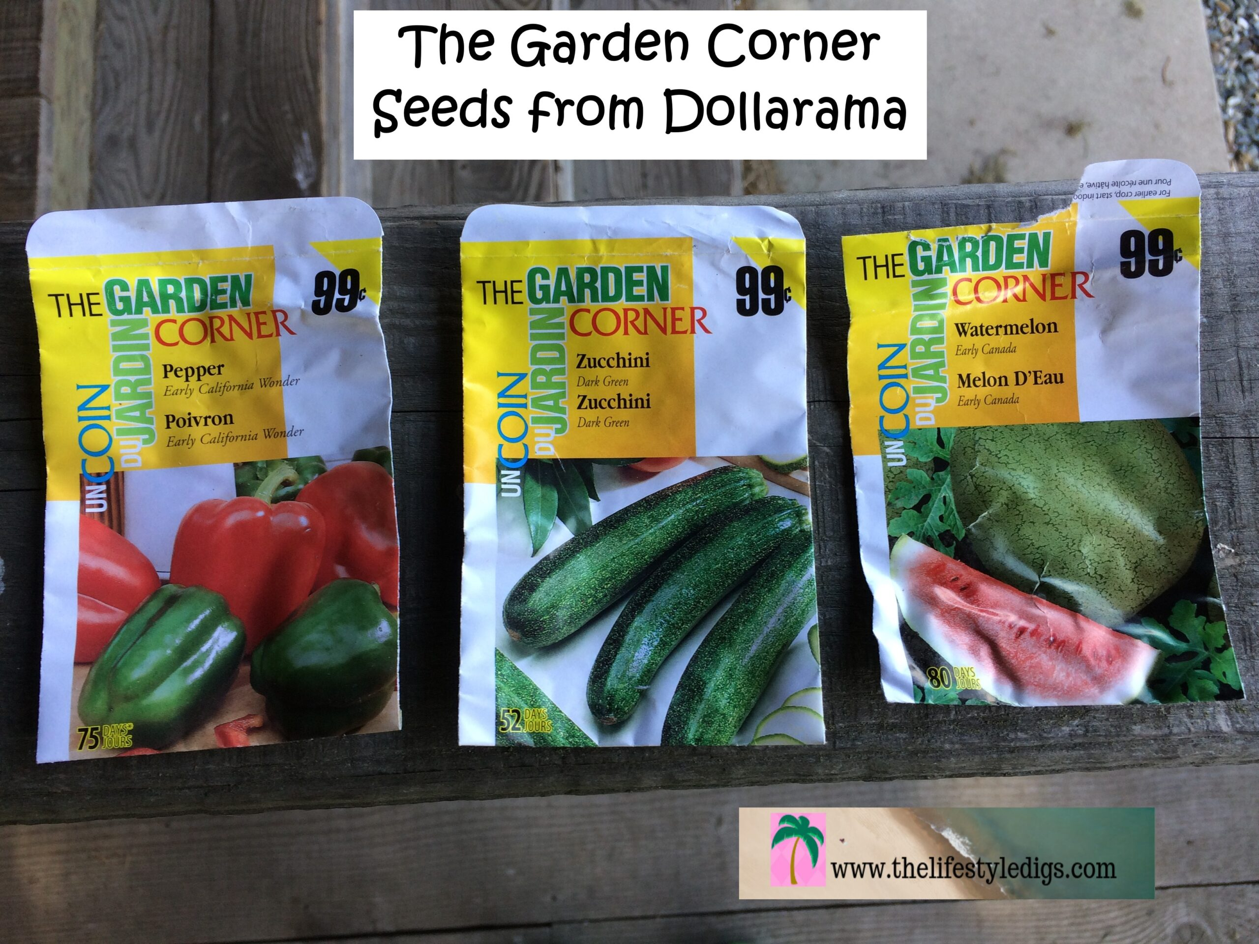 The Garden Corner Seeds from Dollarama